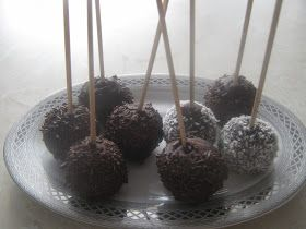 Glazürlü (çikolatalı)Kek Topları,kek pops,cake pops
