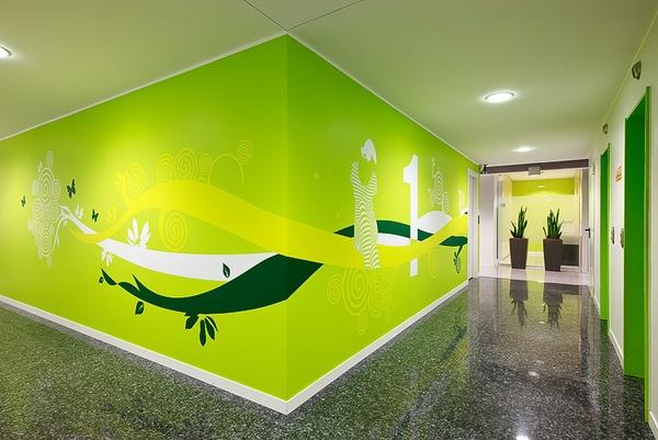 #Wall #Entreprise #Green www.vinylimpression.co.uk