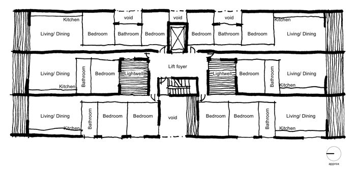 Typical floor plan of The Commons
