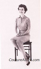 Couture Allure Vintage Fashion: Friday Charm School - How to Sit Like a Lady Part 2