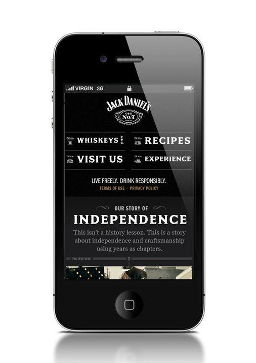 Jack Daniels Web Experience by John Magnifico, via Behance