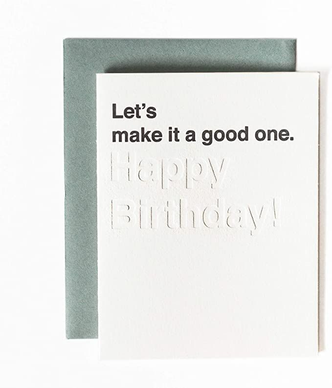 Card Party Letterpress Greeting Cards Funny Birthday Cards Bday Cards