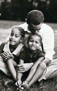 barack obama with malia and sasha