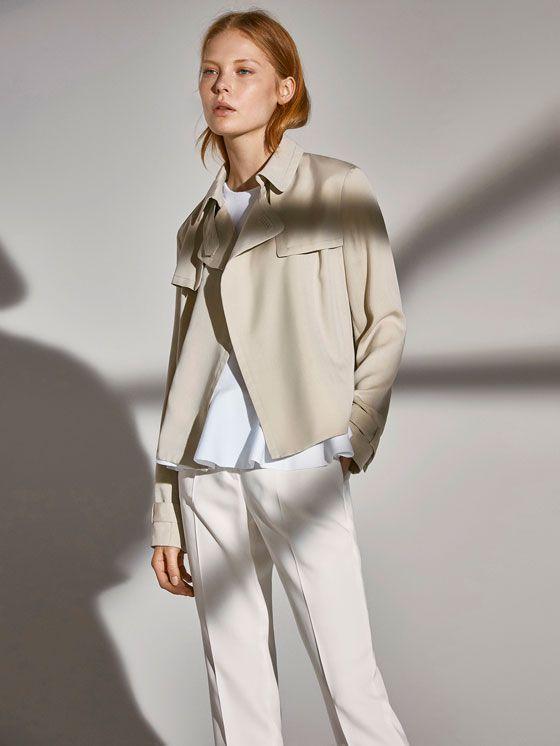 Spring summer 2017 Women´s SHORT RELAXED TRENCH COAT at Massimo Dutti for 109. Effortless elegance!