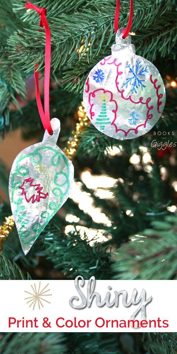 Shiny Kids Printable Christmas Ornament Craft Kids Crafts