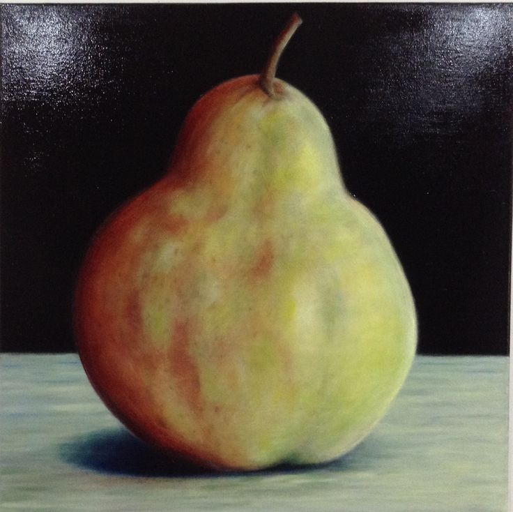 Pear. Classical style. Oil on canvas.