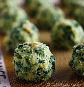 These colcannon puffs (mashed potatoes with cabbage or kale) are a perfect recipe for St. Patrick's Day