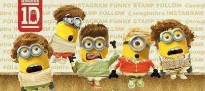 More One Direction Minions!!!!! I can't. I just. I just can't even. I am unable to even.