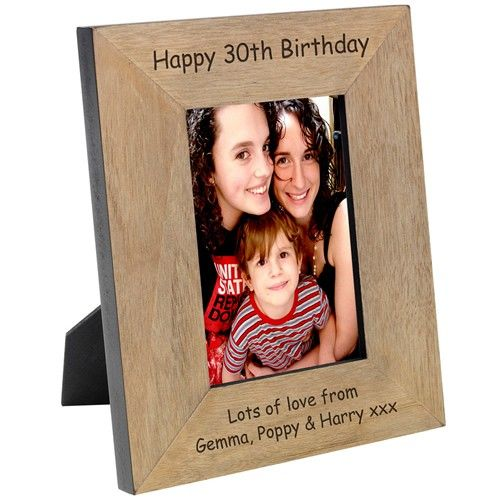 Engraved Wood Photo Frame - 7x5  from Personalised Gifts Shop - ONLY £19.99