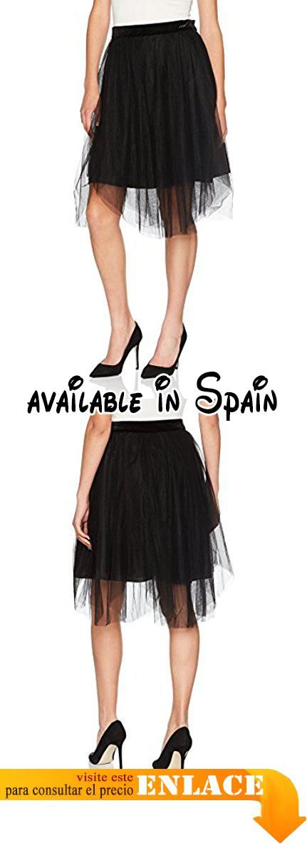 B072M11HSL : Guess Dancer Falda para Mujer Nero (Jet Black) Medium. 100% Poliamida Forro: 100% poliéster
