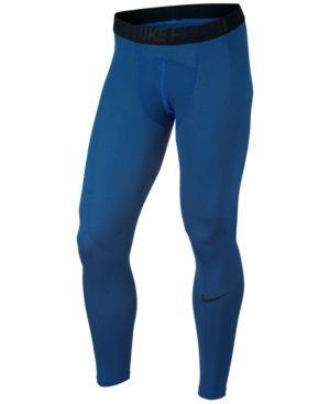 Nike Men's Pro Dry Compression Leggings - Blue 2XL