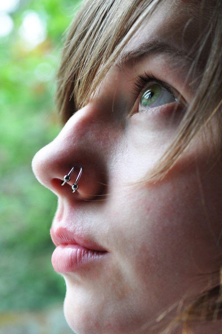 Bump over nose piercing  Lauren McLeod laurenann on Pinterest