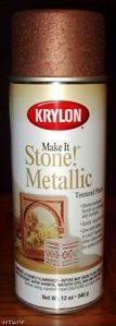 Krylon Make It Stone Textured Spray Paint Metal Copper   eBay