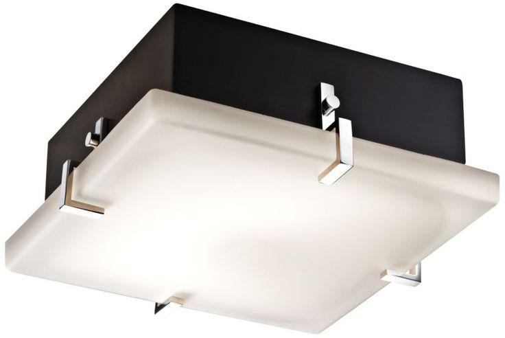 Justice Design Clips Matte Black 12 1/2-Inch-W Ceiling Light -