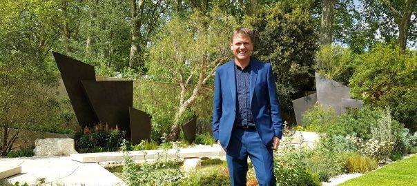 Andy Sturgeon pictured in The Telegraph Garden, which was awarded a Gold Medal and the coveted award of Best in Show, at The RHS Chelsea Flower Show 2016.