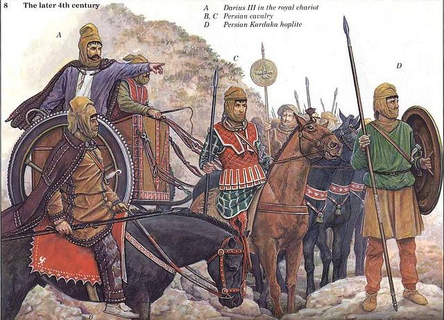 Persian king Darius III. and his army