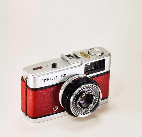 Olympus Trip 35 / Genuine Red Leather / by LightBurnPhoto on Etsy, £44.99