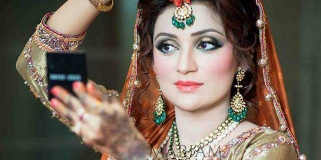 Mariam Khawaja Bridal Makeup Styles 2016 http://www.womenclub.pk/mariam-khawaja-bridal-makeup-styles-2016.html #MariamKhawaja #BridalStyle #BridalHairstyle #BridalMakeup #MakeupStyles #Bridal2016 #Makeup