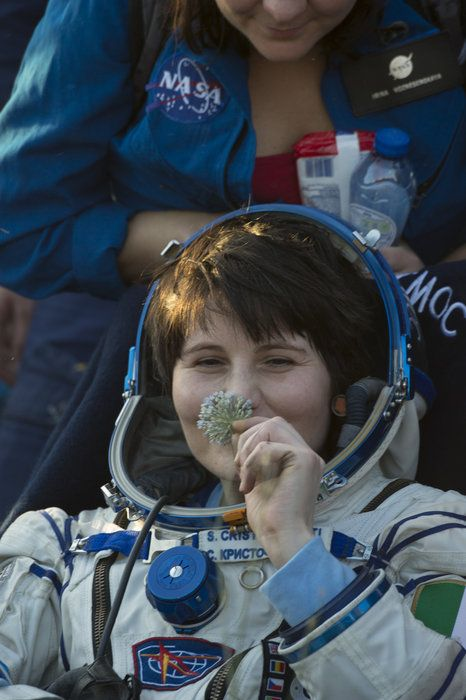 ESA astronaut Samantha Cristoforetti, NASA astronaut Terry Virts and Russian commander Anton Shkaplerov landed safely on 11 June 2015 in the Kazakh steppe after a three-hour ride in their Soyuz spacecraft. They left the International Space Station at 10:20 GMT at the end of their six-month stay on the research complex.