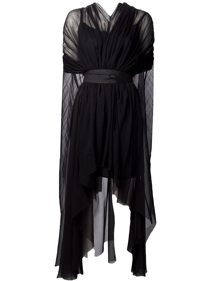 Louiza Babouryan Waterfall Cape Dress - - Farfetch.com