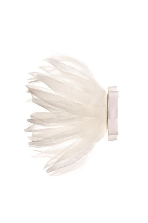 Bridal Hair Fascinator Wedding feather hair piece  Ella