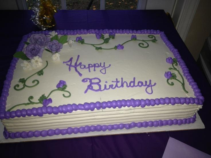 White Fondant Rectangle Cake