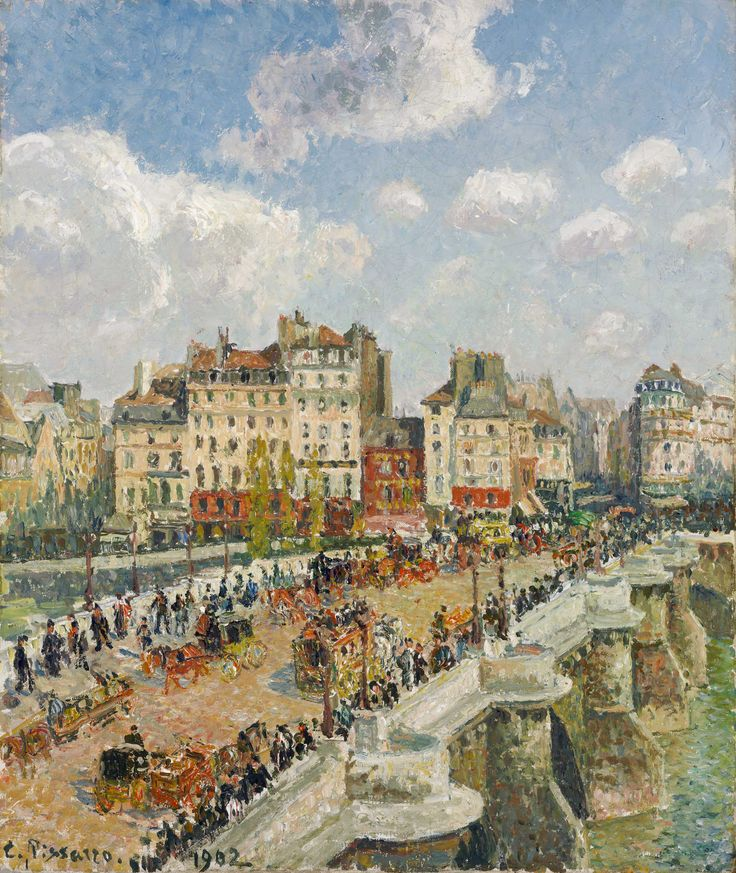Camille Pissarro: The Pont-Neuf, 1902. Pinterest