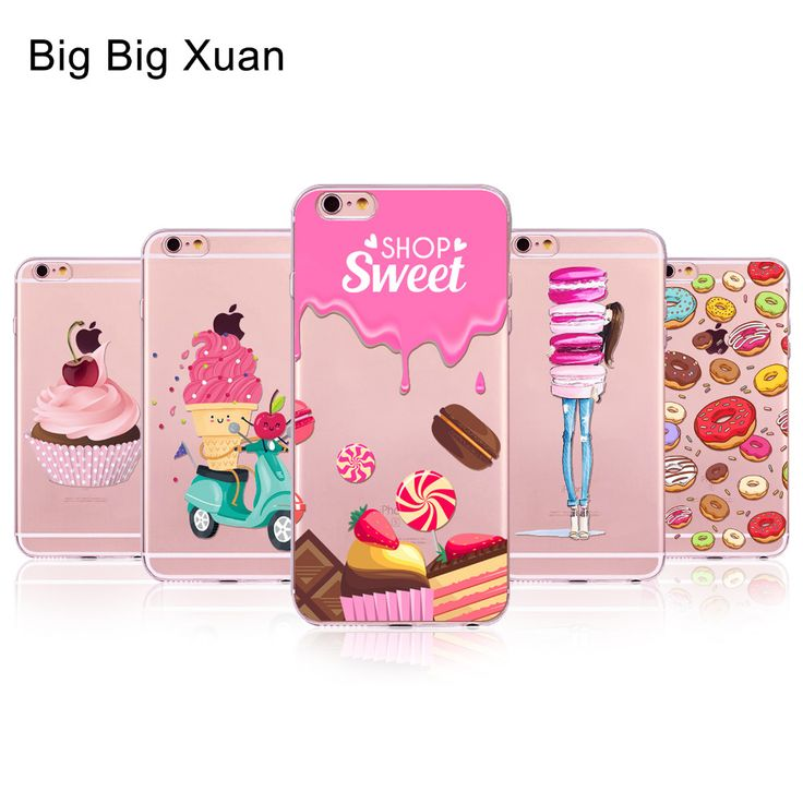 For iPhone 6 6s 5 5S SE 5C 6Plus 6sPlus 4 4S Phone Case Cover Rainbow Color Food Hamburger Donuts Macaron Pattern Fundas Celular ** You can get more details by clicking on the image.