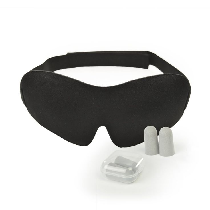 Luxury Sleep Mask with Ear Plugs | Light Blocking Eye Mask for Sleeping Deeper | Features Memory Foam, Contoured Design, Adjustable Strap & Ear Plugs | Insomnia Aid