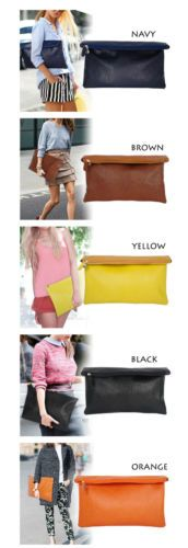 New Women Lady Fashion Faux Leather Evening Party Bag Clutch Large Purse Handbag | Одежда, обувь и аксессуары, Женские сумки, Сумочки и клатчи | eBay!