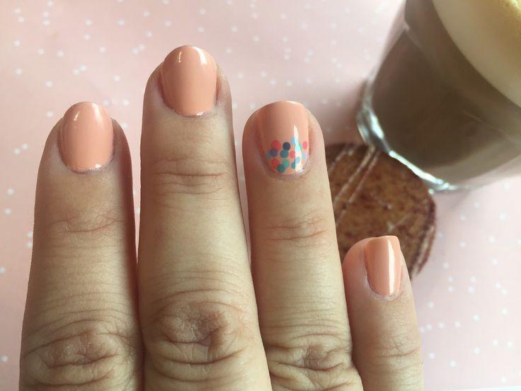 #spring #dot #dots #dotticure #highclassaffair #peachy #danishnailpolish #essie #loveessie #essiepolish #polishedup #iampolishedup #nailart #iloveessie #iheartessie #nail #nails #nailpolish #polish #polishaholic #simple #manicure #mani #notd #nailblog #nailblogger #nailpolishaddict