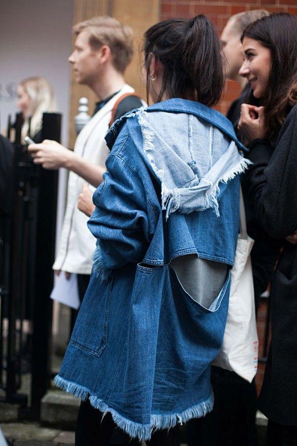 54 street style photos from London Fashion Week #LFW #denim