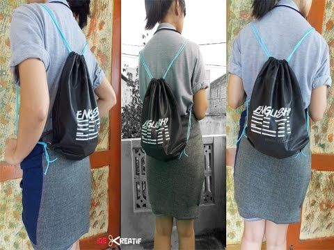 Cara membuat string backpack dari tote bag