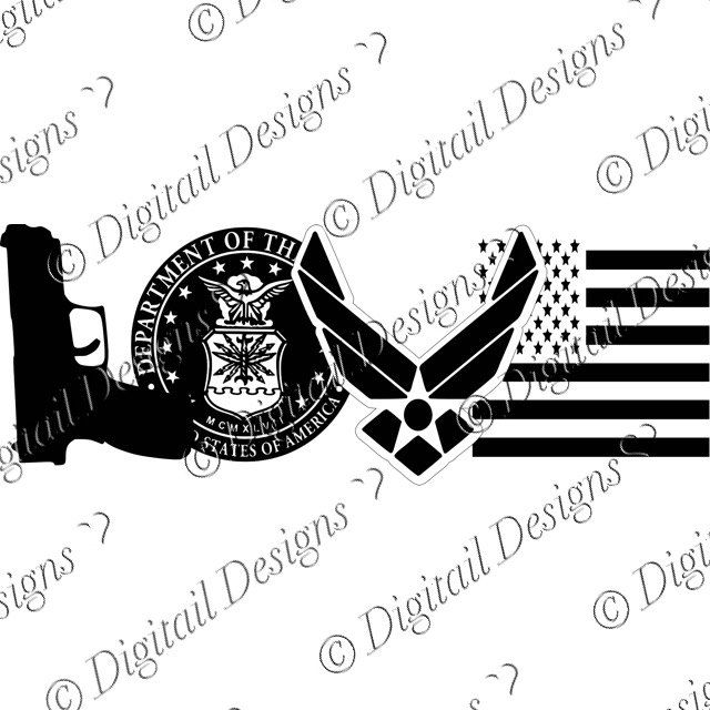Love Air Force Symbols Svg Png Fcm Eps Dxf Ai