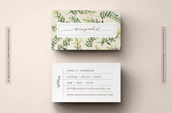 Custom Business Card Design by OddBitsStudio on Etsy