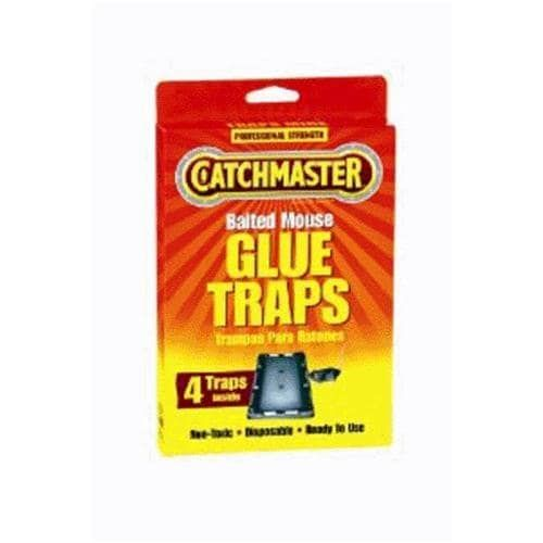 Catchmaster 104 Baited Mouse Glue Traps 4/Pack, Gardening