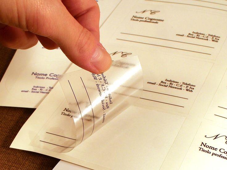 #Tipidea #StampaOnline #Tipografia #Grafica #Stampa Etichette adesive trasparenti - ET0003 Etichette adesiva su plastica trasparente adesiva. Adatta per chiudere confezioni regalo e per personalizzare tutto in modo discreto. Sono disponibili diversi formati rettangolari, rotondi e ovali. Etichette fornite in fogli A5 sagomate per facilitare l'utilizzo.