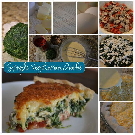 vegetarian quiche recipe | frugal recipes | how to make quiche