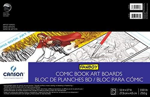 Canson Comic Book Art Boards Pad With Preprinted Size 11 X 17 Inch Paper Canson S Comic And Manga Artist Series Pa Comic Book Art Display Racks In 2019
