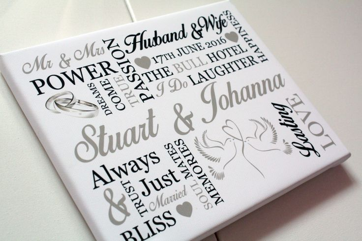 Personalised wedding keepsake gift for bride groom anniversary word art print picture mr and mrs love quote by EssexPrintingService on Etsy