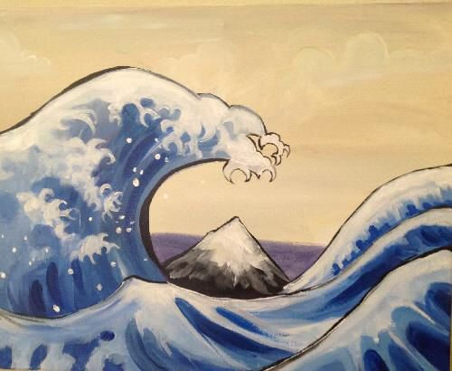 """Great Wave"" is easy when the foam of the waves is just simple stacked letter ""C""!"