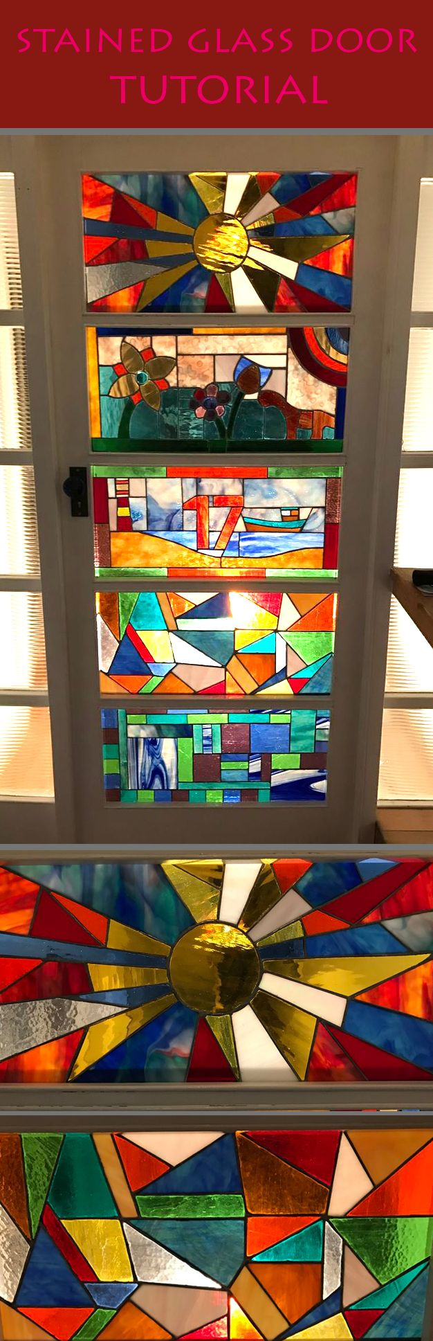 How to make stained glass panels.