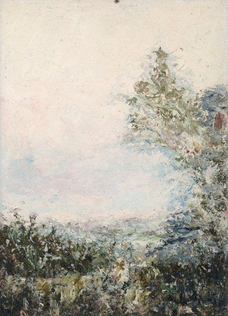 August Strindberg (Swedish, 1849-1912), Fantasilandskap [Fantasy landscape], October 1894. Cardboard, 32 x 23.5 cm.