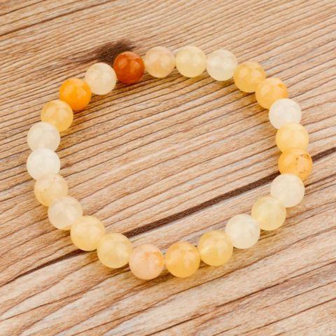 Yellow Tones Light Beaded Bracelet