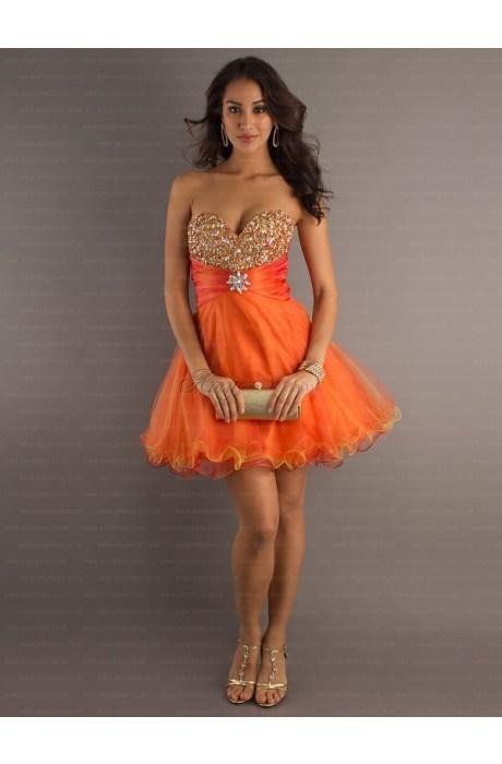 orange dress #sexy #dresses #orange #short #fashion #homecoming #cocktail