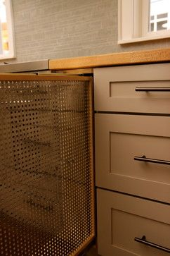 This is purportedly from bungalowhouseplans.com, but I can't find more details.  How wide? Number of panels that store in the cabinet? To what does it attach once it's out?  Old Town Bungalow - traditional - kitchen - denver - Bungalow House Plans