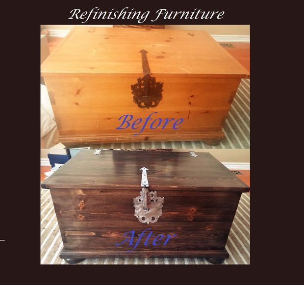 Breathing new life into a tired old toy chest (And how to refinish wood)