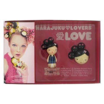 Harajuku Lovers Love by Gwen Stefani - Women - Gift Set -- .33 oz Eau De Toilette Spray + Solid P by Etailer360. $36.92. Launched by the Gwen Stefani inspired deisgn house Harajuku Lovers in 2004, is a playful perfume bursting with exotic scents. The top notes include sparkling bergamot, pink pomelo, peach, and bamboo leaf mist, the middle notes include water peony, living hydroponic lace rose, jasmine sambac, nectarine, creamy paperwhites, and egyptian jasmin...