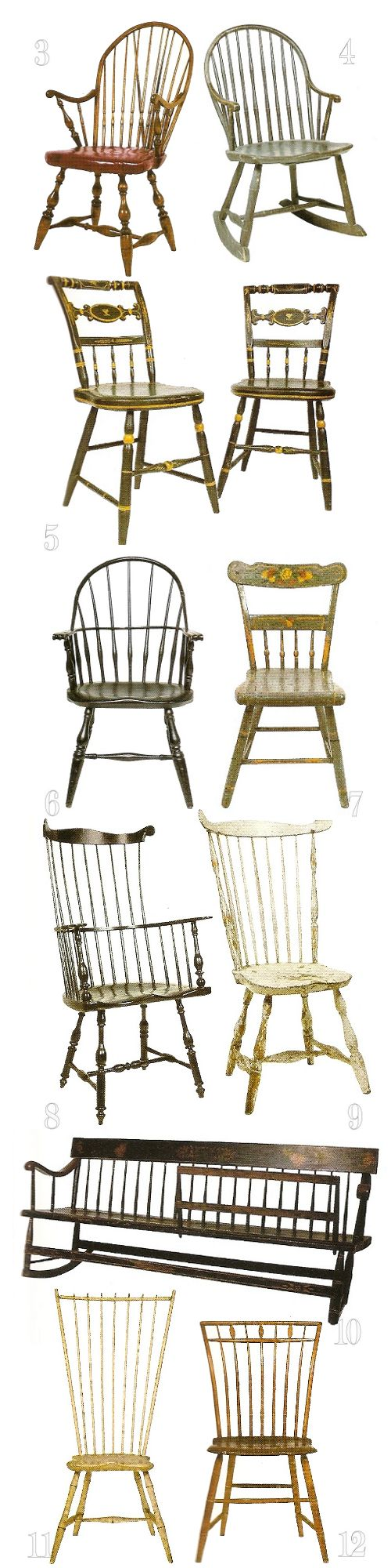 Antique chair styles identification - Windsor Chairs And Bench Identification