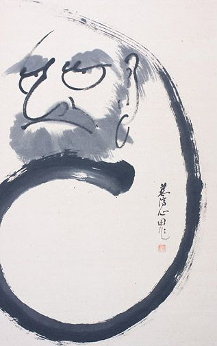 Giant Daruma Enso by Inaba Shinden (Japanese Painting/Drawing)